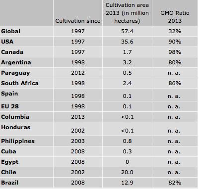 Productores maíz transgénico (Cortesía: gmo-compass.org)