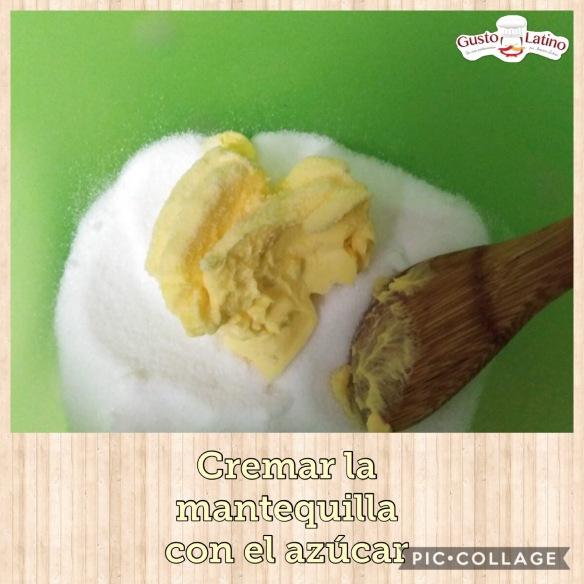 Cremar mantequilla con azúcar